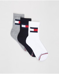 Tommy Hilfiger - 3-Pack Flag Logo Socks - Kids-Teens