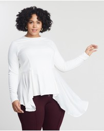 Lost Ink Plus - Dramatic Drape Side Top