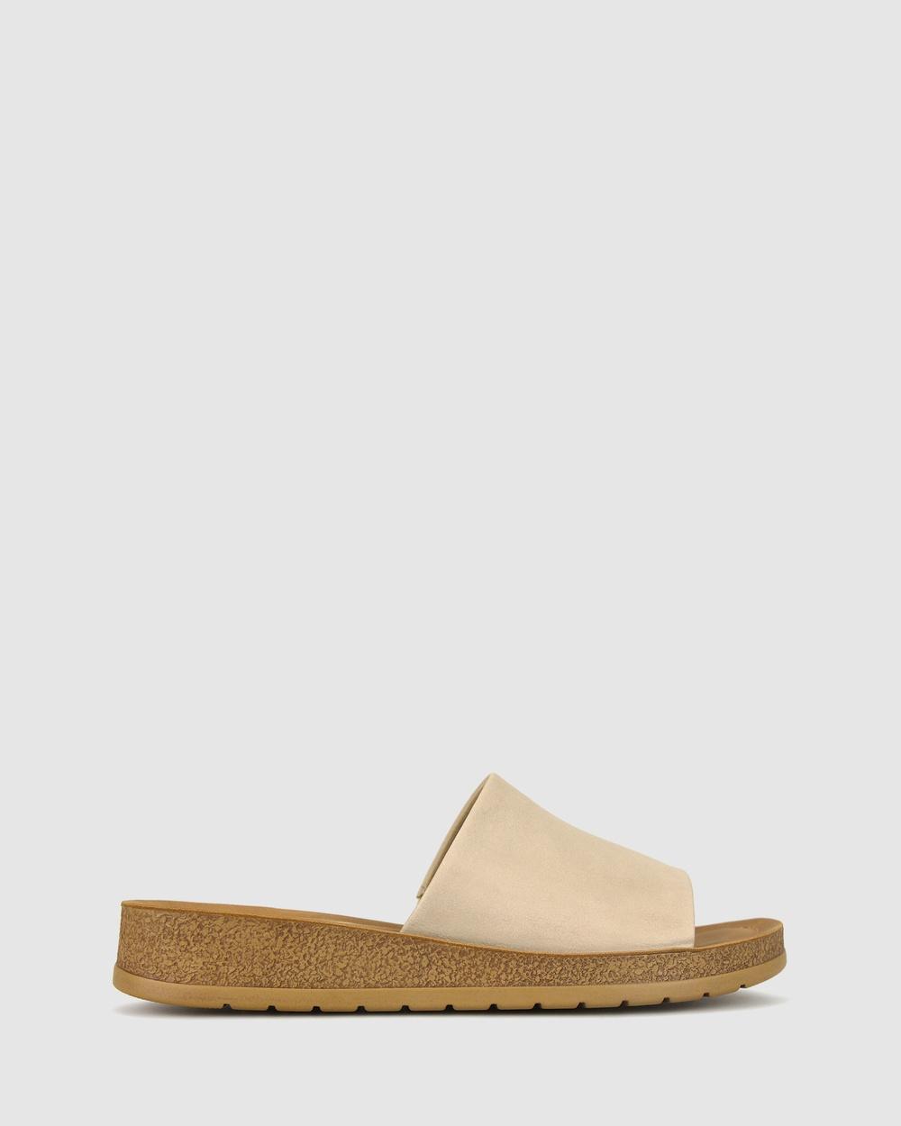 Zeroe Rush Comfort Mule Sandals Latte