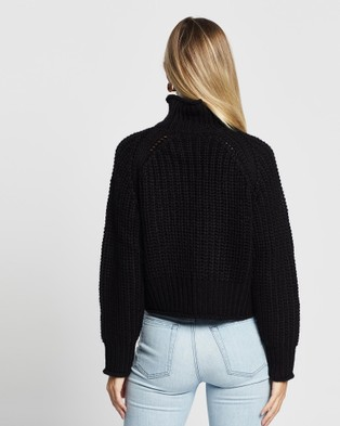 Third Form Own Beat Chunky Turtleneck - Jumpers & Cardigans (Black)