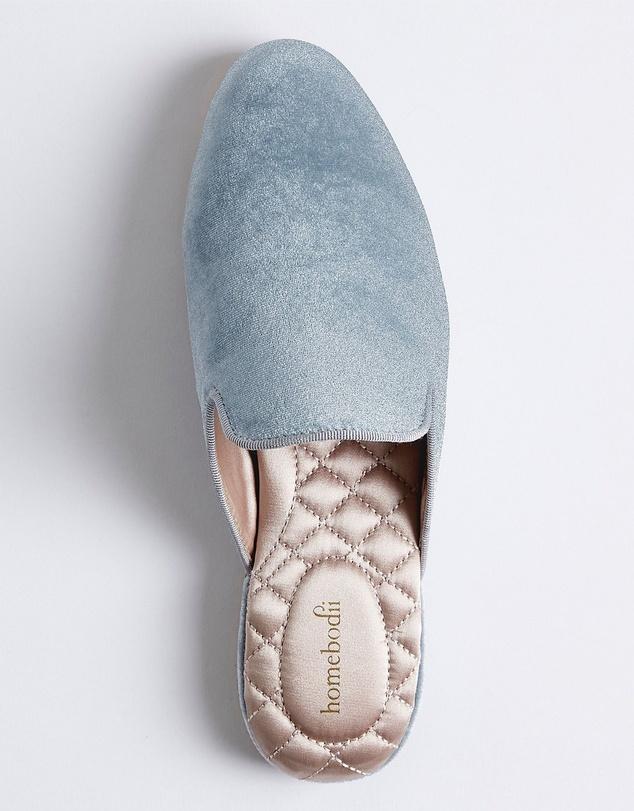 Women Florence Womens Velvet Slipper - Eggshell Blue