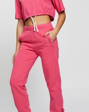 Les Girls Les Boys Loopback Slim Joggers - Sweatpants (Raspberry)
