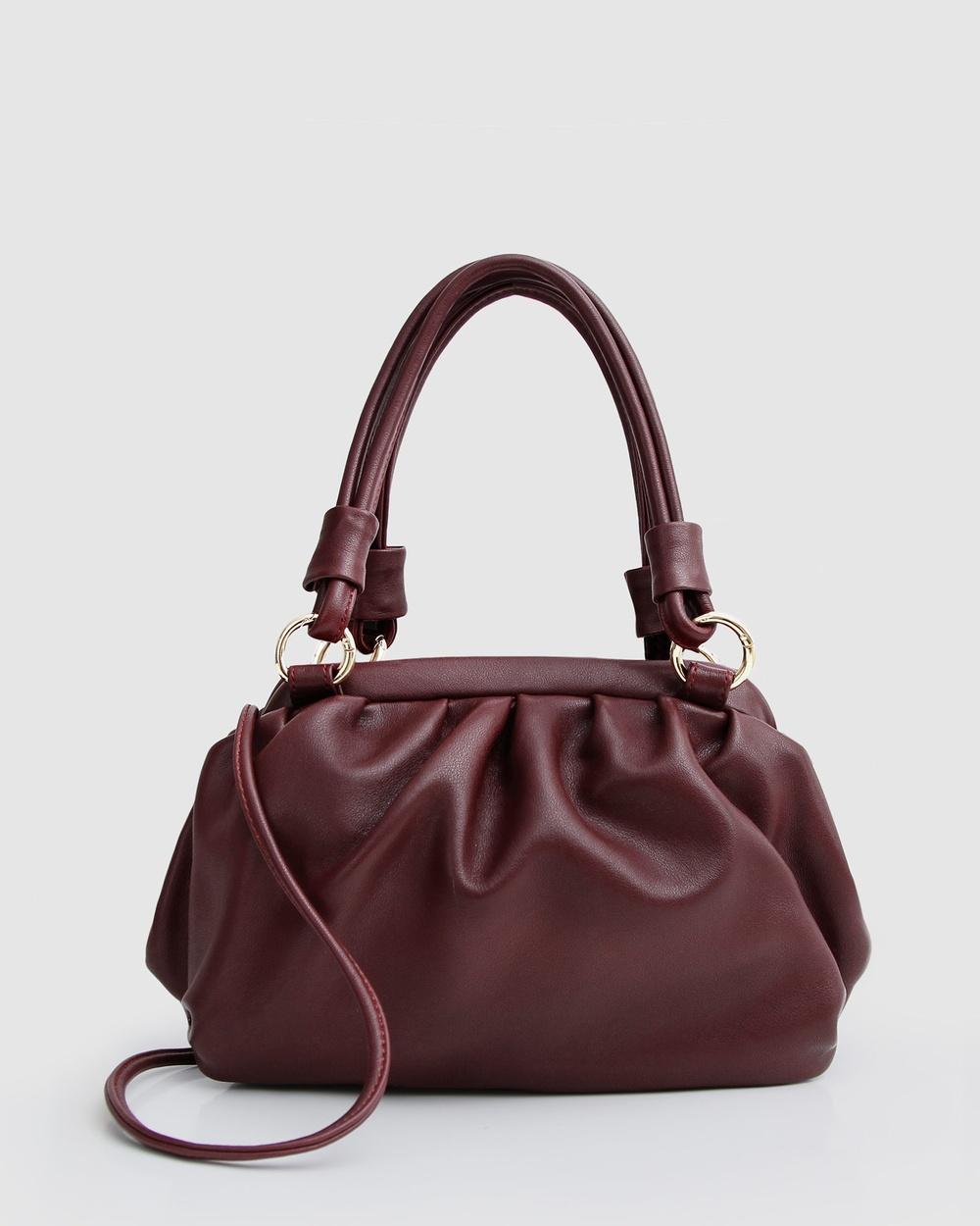 Belle & Bloom Just Because Leather Shoulder Bag Handbags Merlot