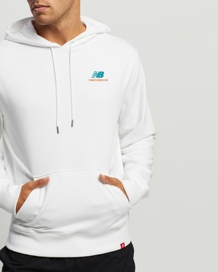 New Balance Essentials Embroidered Hoodie - Hoodies (Munsell White)