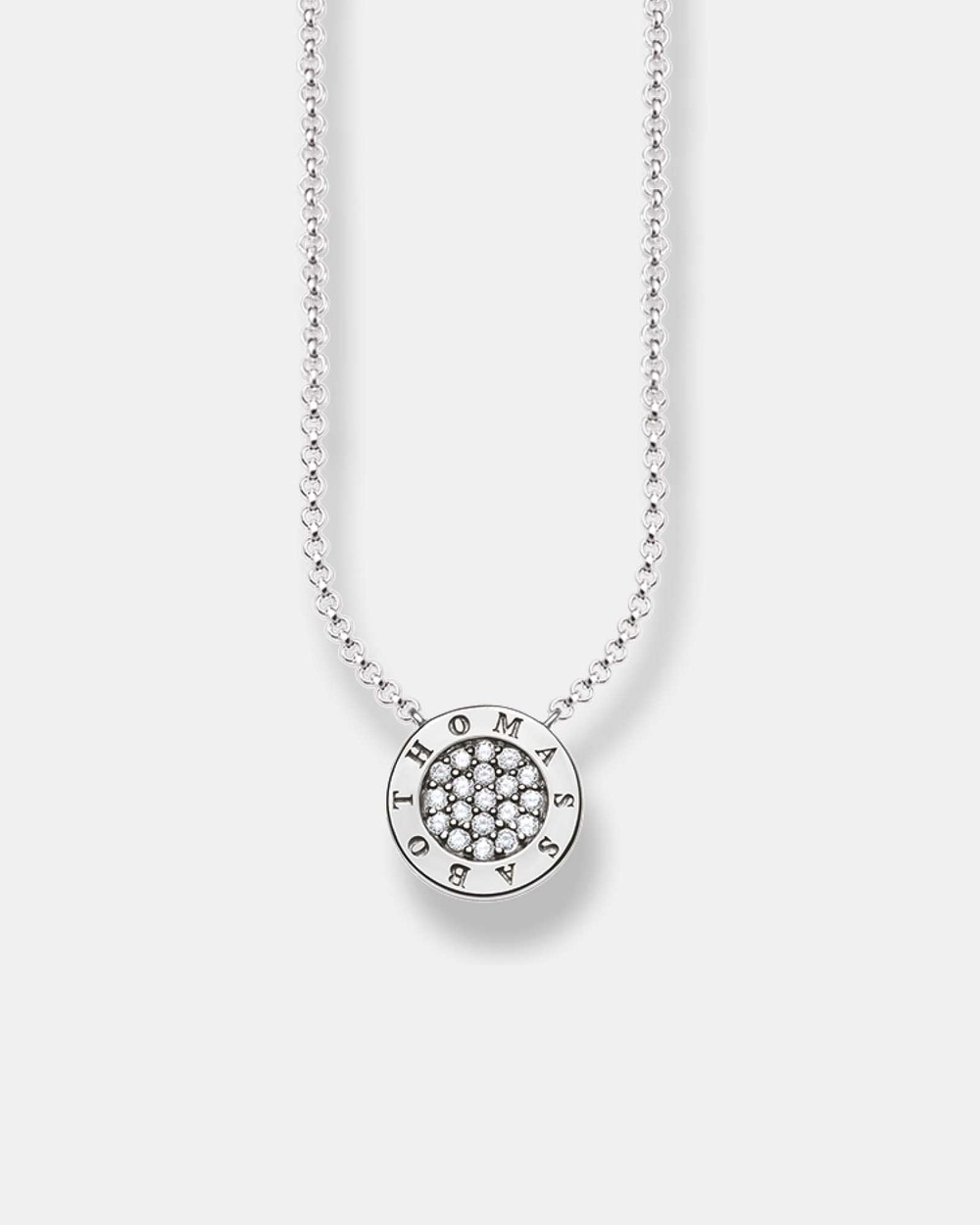 THOMAS SABO Classic Pave Silver Necklace Jewellery Silver