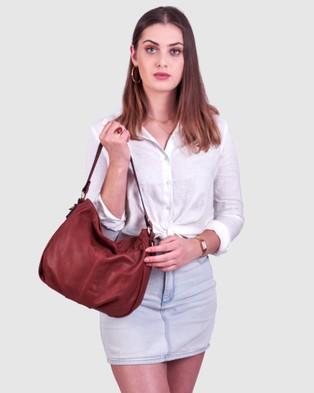 BEE The Airlie Brown Shoulder Bag - Handbags (Brown)