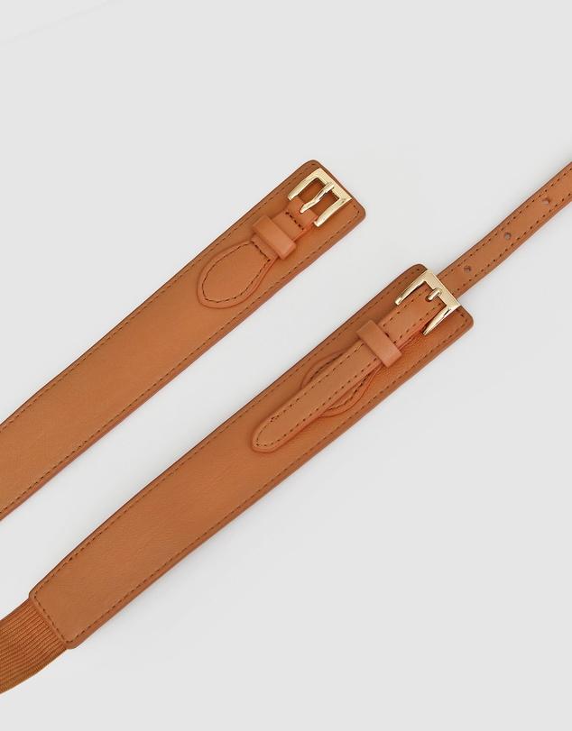 Women London Fog Leather Waist Belt