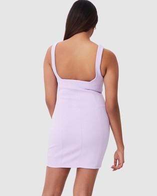 Supre Ivanna Wide Strap Ponte Dress - Dresses (Lavender)