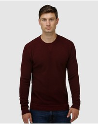 Brooksfield - 'V' Panel Crew Neck Sweater