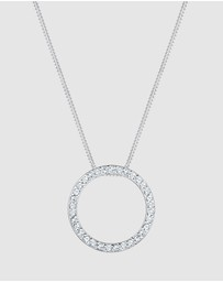 Elli Jewelry - Necklace Circle Swarovski® Crystals 925 Sterling Silver