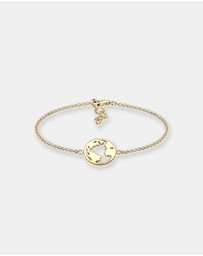 Elli Jewelry - Bracelet Globe Travel 925 Silver Gold Plated