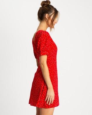 Savel Court Mini Dress - Printed Dresses (Red Floral)