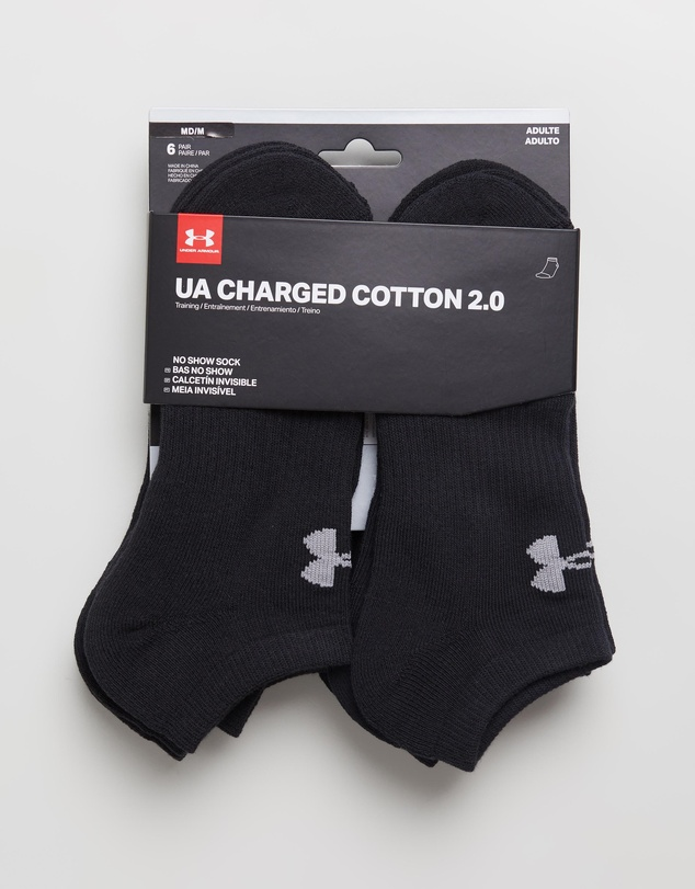 Under Armour - UA Charged Cotton 2.0 No-Show Socks 6-Pack