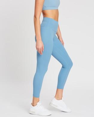 MOVEMAMI Odessa Leggings - Sports Tights (Blue Slate)