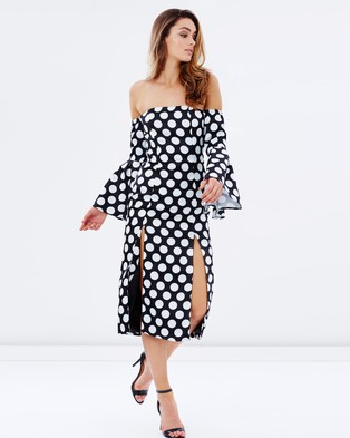 Mossman – Spot The Difference Dress – Dresses (Black & White)