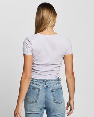 Atmos&Here Fiorella Rib T Shirt - T-Shirts & Singlets (Lilac)