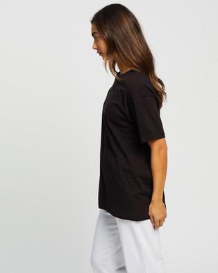 Missguided Drop Shoulder T Shirt - T-Shirts & Singlets (Black)