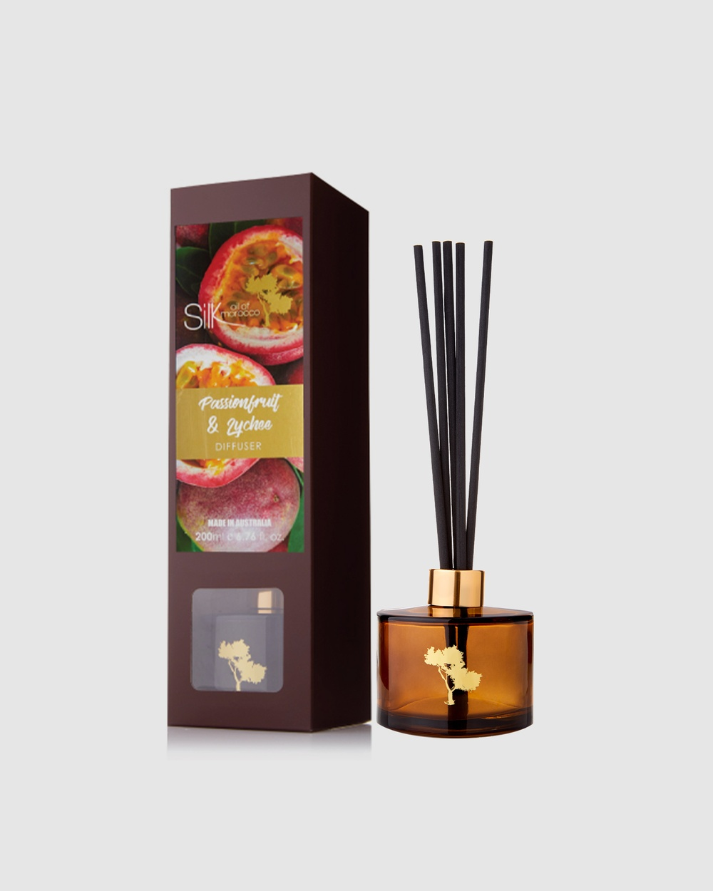 Silk Oil of Morocco Passion Fruit & Lychee Reed Diffuser Diffusers Passion Lychee