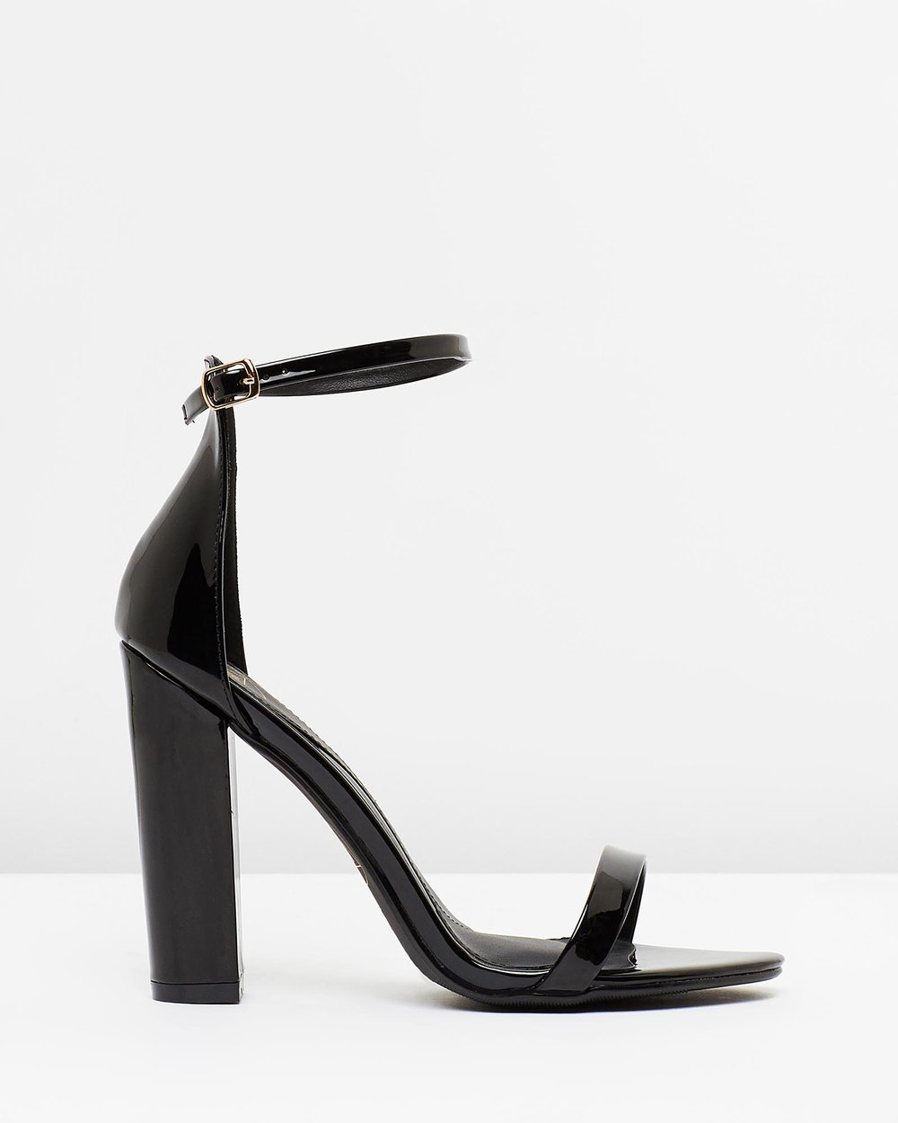 e85aed35220 Block Heel Barely There Sandals by Missguided Online