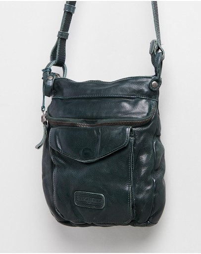 Stitch & Hide Venice Crossbody Bag Petrol
