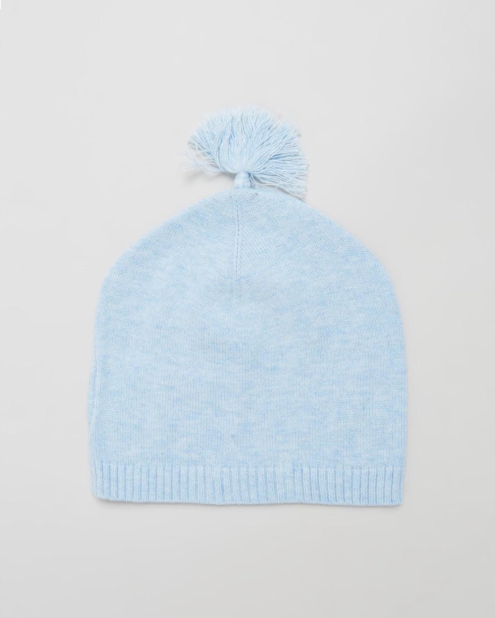 Purebaby Essentials Newborn Beanie Babies Headwear Blue