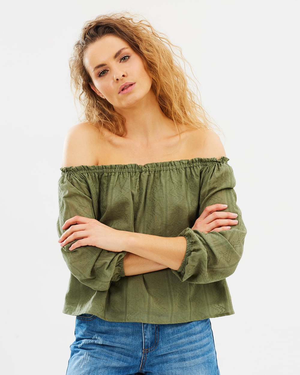 All About Eve Vienna Top Tops Khaki Green Vienna Top