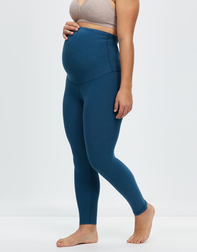 Women Spacedye Love The Bump Capri Maternity Leggings