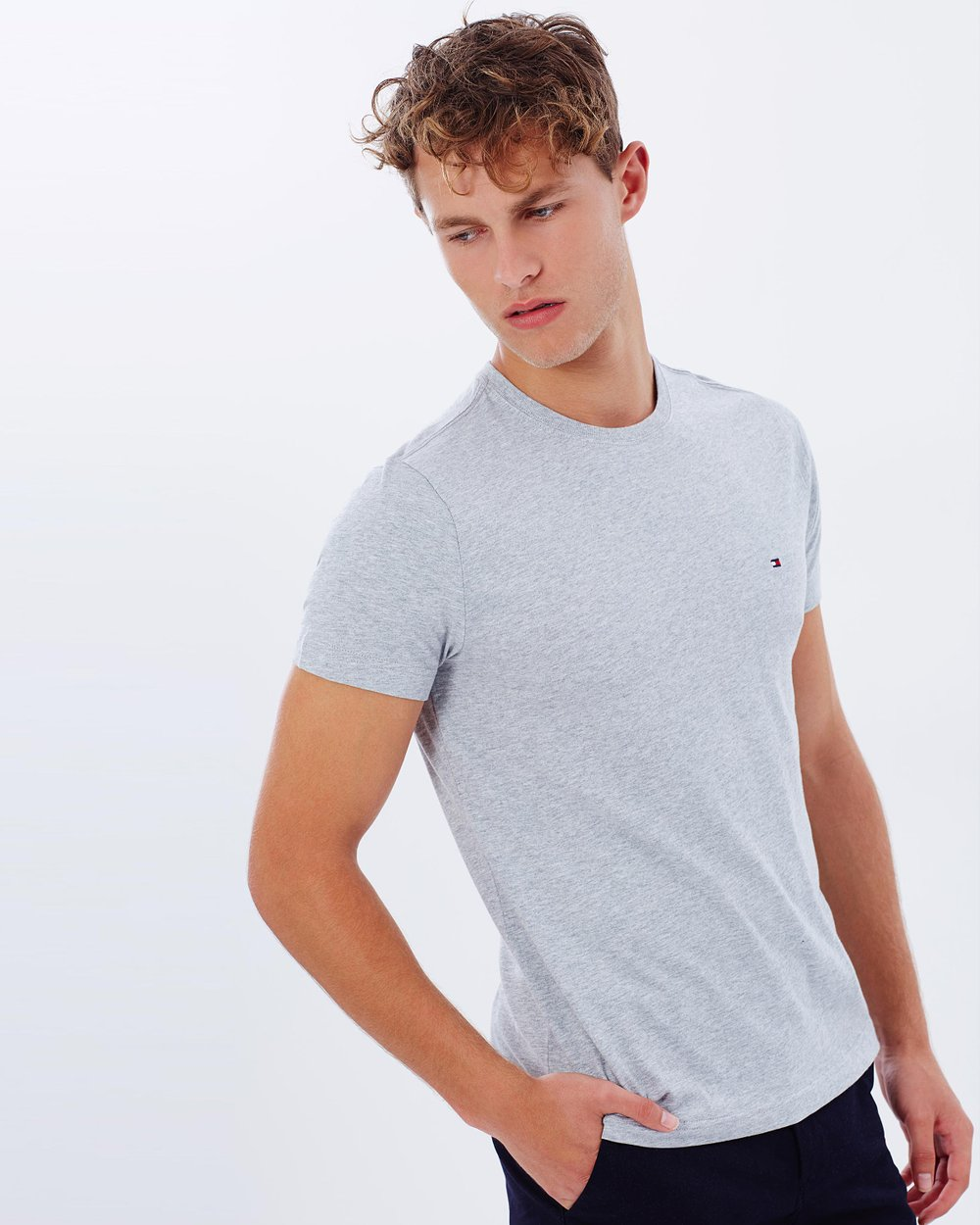 dd20030d May Crew-Neck Tee by Tommy Hilfiger Online | THE ICONIC | Australia