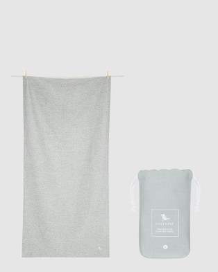 Dock & Bay Large Fitness Towel 100% Recycled Essential Collection - Gym & Yoga (Grey)
