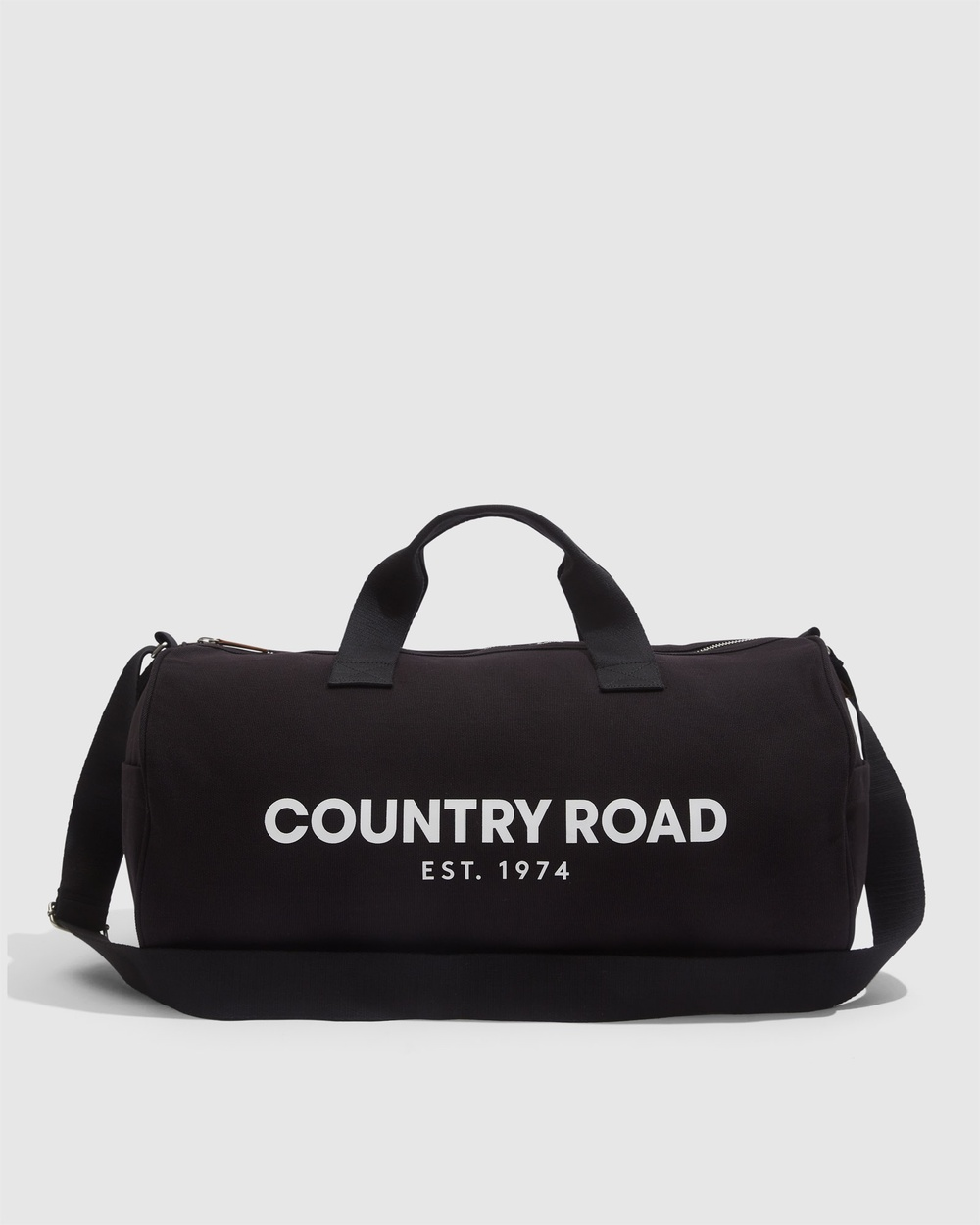 Country Road Organically Grown Cotton Modern Logo Duffle Bags grey