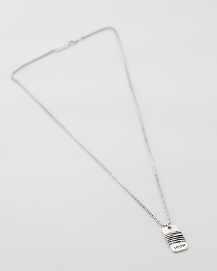 Icon Brand Wrapped Up Disk Necklace - Jewellery (Silver)