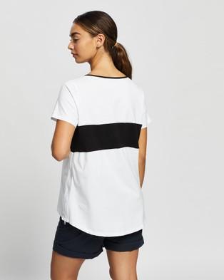 Angel Maternity Maternity & Nursing T Shirt - Tops (Black & White Stripe)