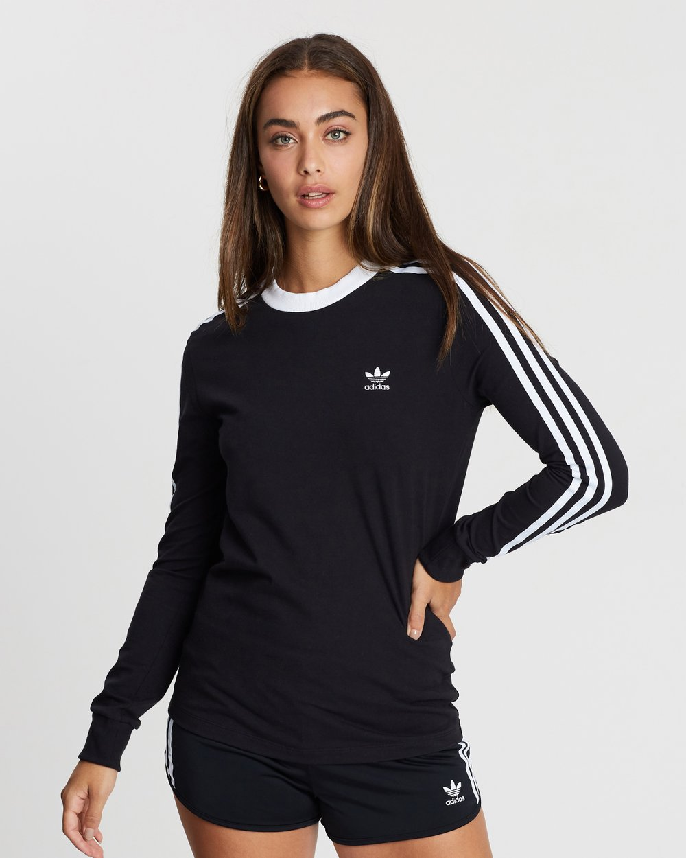 3095ce540a 3-Stripes Long Sleeve Tee by adidas Originals Online | THE ICONIC |  Australia