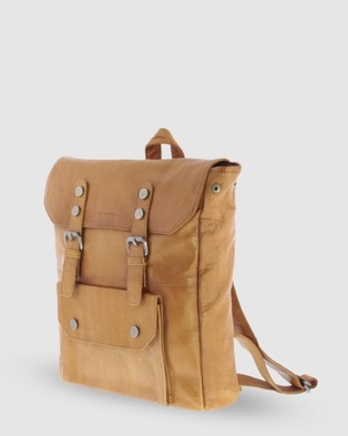 Cobb & Co - Wentworth Jr. Soft Leather Backpack - Backpacks (Tan) Wentworth Jr. Soft Leather Backpack