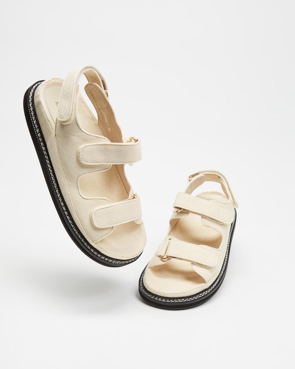 Alias Mae Pascale Sandals Bone Canvas