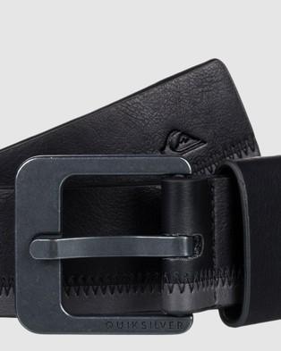 Quiksilver Mens The Stitchout Faux Leather Belt - Belts (Black)