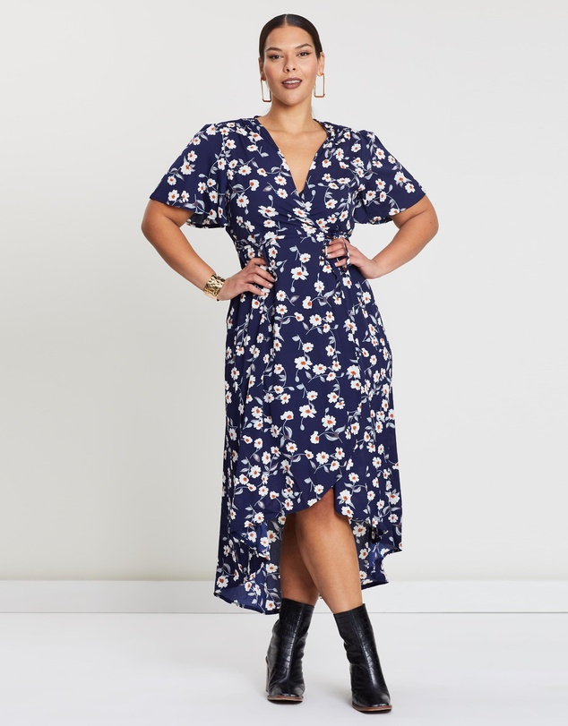 High Low Wrap Dress by Missguided Curve