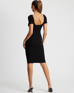 BWLDR Linda Knit Dress - Bodycon Dresses (Black)