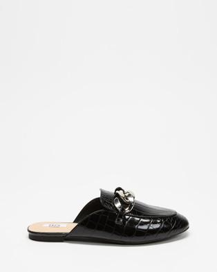 Dazie Preston Loafers - Flats (Black Croc)