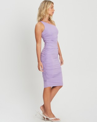 CHANCERY Hailee Ruched Dress - Dresses (Lilac)