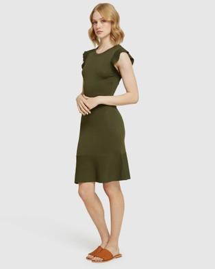 Oxford Victoria Knitted Mini Dress - Dresses (Green)