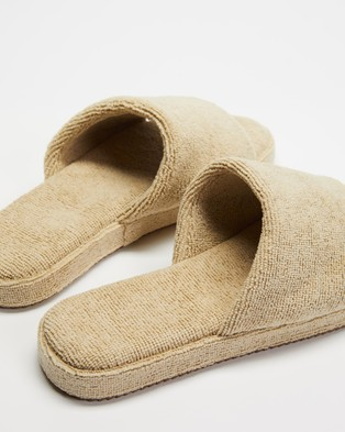 Staple Superior Ibiza Terry Towelling Slides - Sandals (Natural)
