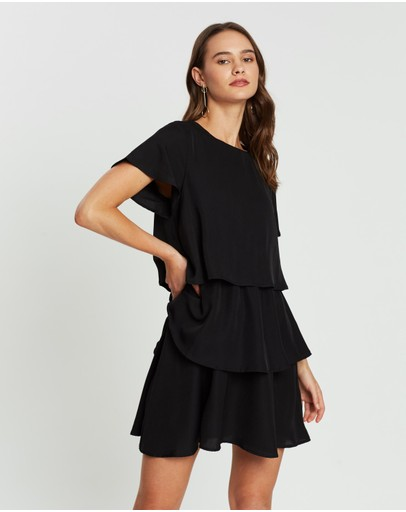Atmos&here Harlem Tiered Dress Black