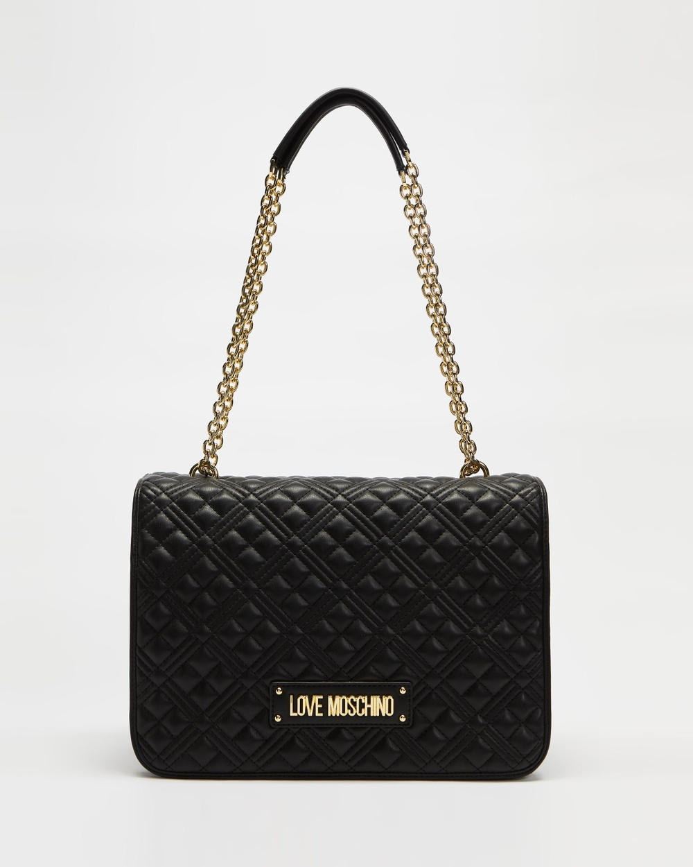 LOVE MOSCHINO Large Quilted Soft Shoulder Bag Handbags Nero
