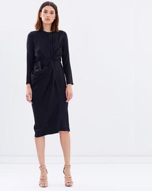 Gary Bigeni – Theo Front Drape Dress – Dresses (Black)