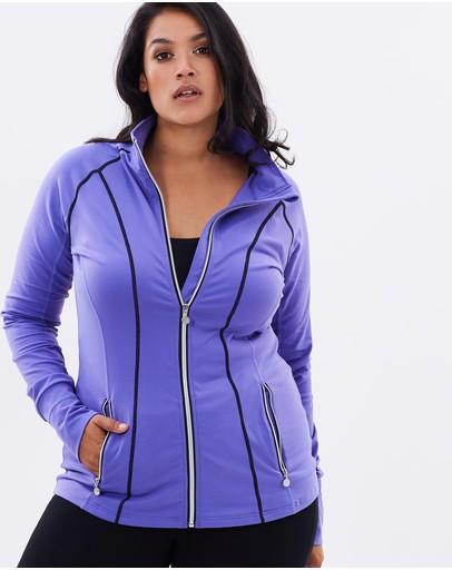 Curvy Chic Sports Bicheno Jacket Purple