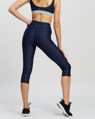 The Upside Liegia NYC Pants - 3/4 Tights (Navy)