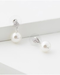 Stephanie Browne - Tiffany II Pearl Earrings