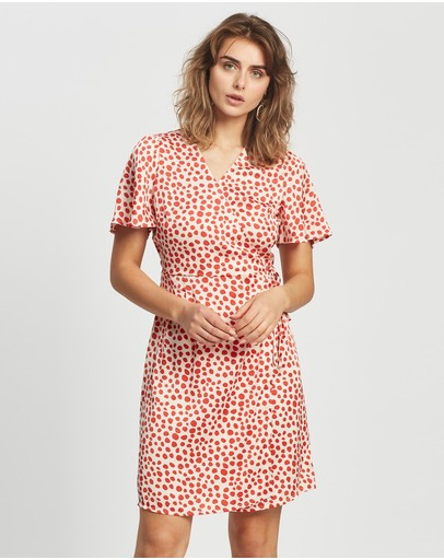 Y.a.s Saylin Wrap Dress Eggnog
