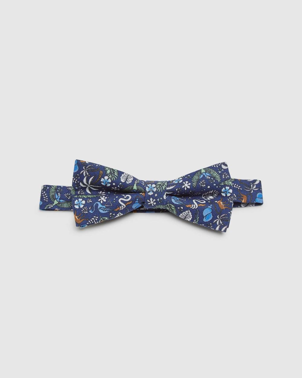 Oxford Linen Tropical Bow Tie Ties Blue Ties Australia